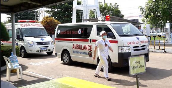 Xe cấp cứu tại Quảng Bình