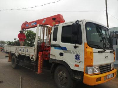 Dịch vụ cẩu hàng Hà Tĩnh của công ty cp vận tải HN.