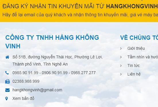 Đại lý bán vé máy bay ở Vinh đường Nguyễn Thái Hoc một địa chỉ không nên bỏ qua.