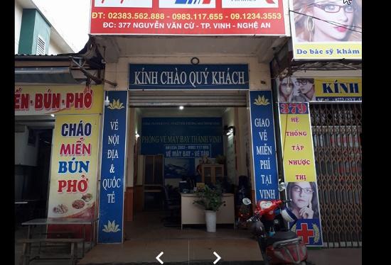Đại lý bán vé máy bay ở Vinh đường Nguyễn Văn Cừ. rất thân thiện với mọi người.
