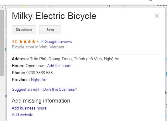 Sửa xe đạp điện tại Vinh  của đơn vị MEB
