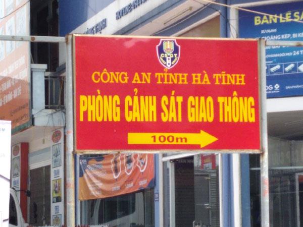Phòng cảnh sát giao thông công an tỉnh Hà Tĩnh địa chỉ ở đâu?