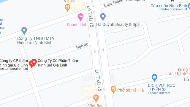 Dịch vụ thẩm định giá tại Ninh Bình