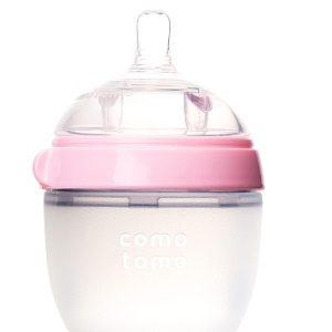 Bình sữa mềm Comotomo 150ml hồng