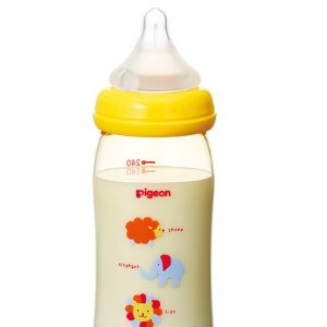 Bình sữa nhựa Pigeon cổ rộng động vật 240ml2